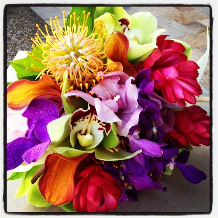 ハワイウエディングに最適のトロピカルブーケ!の画像 | 時枝シドニーのブログ