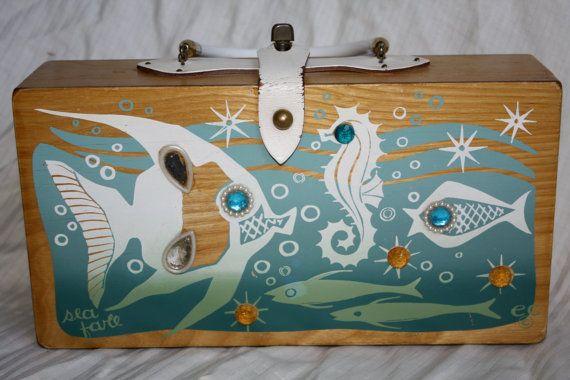 Vintage Enid Collins Sea Fare Box Bag 1967 by in2purses2010, $55.00