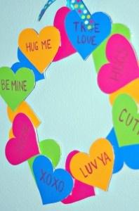 Craft With The Kids: Make a Valentine's Day Conversation Heart Wreath