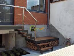 Afbeeldingsresultaat voor houten buitentrap