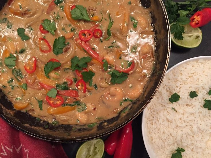 This Thai inspired dish combines a rich creamy coconut sauce with a subtle peanut flavour and fish sauce as the magic ingredient.