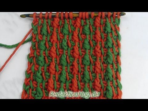 Tunisian Crochet - Belgian relief pattern (IN GERMAN - If you are familiar with Tunisian Crochet you can watch this video to learn this stitch... The video is very good... Deb)