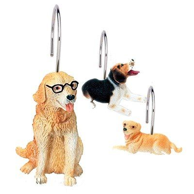 Ridiculously Cute Shower Curtain Hooks  ... from PetsLady.com ... The FUN site for Animal Lovers