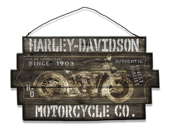 Harley Davidson Motorcycle Co - Since 1903 - Wood Sign