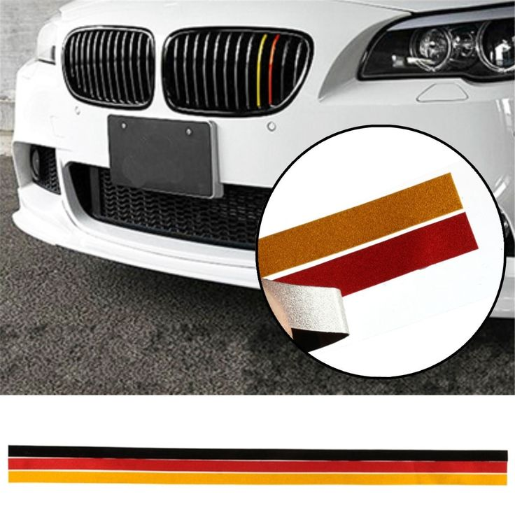 M-Sport Grille Grill Vinyl Strip Sticker Decal For BMW M3 M5 E46 E90 German Flag. Specification:    3 Colors: Black Red Yellow  size: About 200x15mm  placement: Front  material: Pvc Reflective Film    features:    - Waterproof High Quality  - Good Quality And Durable  - Self Adhesive Backing  - Wash And Weather Resistant  - Protect The Grille Against Scratches  - Universal Fit For All Bmw Models    note:    1. (important) No Instructions Included.professional Installation Is Highly…