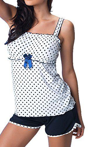 #r-dessous #exclusives #Damen #Nachtwäsche #Viskose #Pyjama #kurz #Schlafanzug #Top mit #Shorts #Shorty #sexy #Groesse: #L