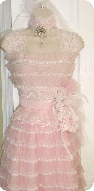Vintage Hanging Dress form by mylulabelles, via Flickr