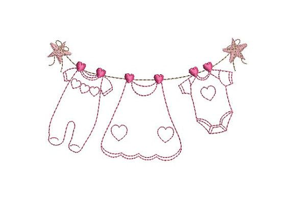 Instant download machine embroidery baby girl clothes on