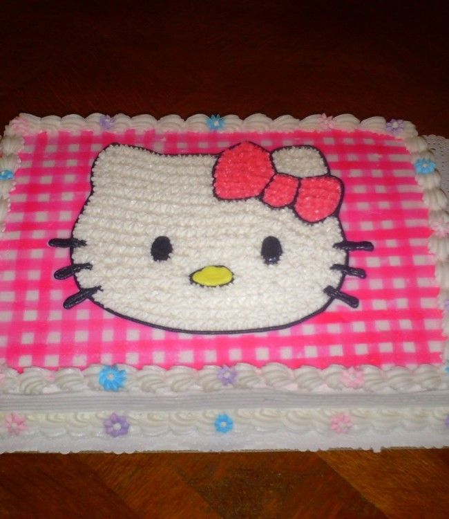 hello kitty cake 9th birthday birthday cakes sheet cakes kitty party ...