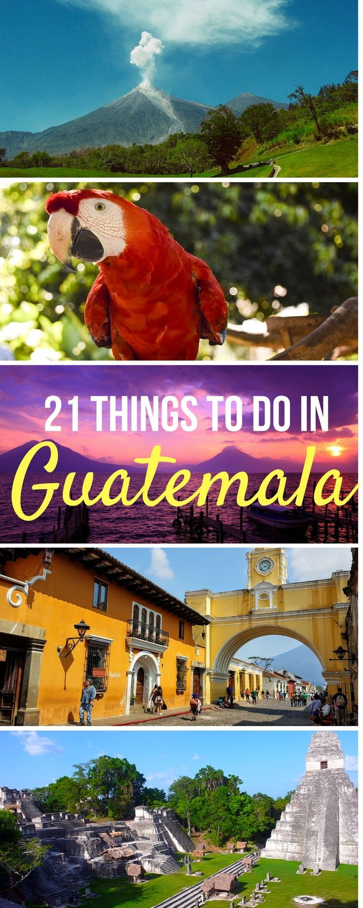Wondering what to do in vibrant Guatemala? Explore jungles, volcanoes, colonial cities, rivers, beaches, volcanic lakes and more. From Antigua and beyond, this is your ultimate Guatemala itinerary and guide!