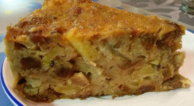 Broodpudding met appeltjes
