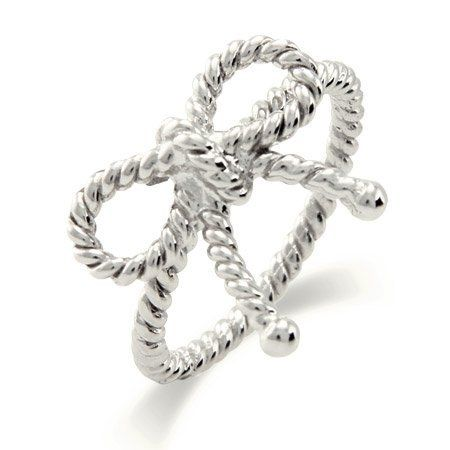 Sterling Silver Twisted Bow Ring Eve's Addiction. $28.00. Approximate Weight: 3 Grams
