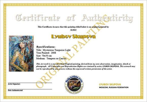 Certificate Of Authenticity 4 In 2020 Certificate Design