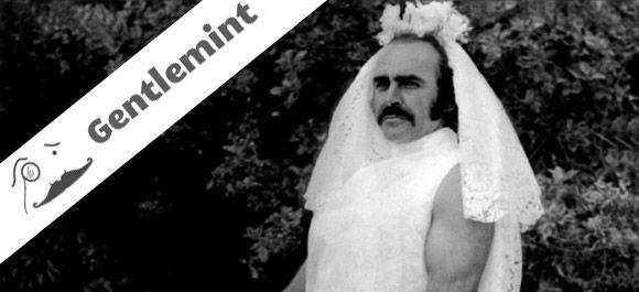 Che spettacolo Sean Connery vestito da sposa!