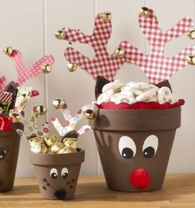 DIY Clay pot reindeer - cute Christmas gift // Agyagcserép rénszarvas - kreatív Mikulás ajándék gyerekeknek // Mindy - craft tutorial collection // #crafts #DIY #craftTutorial #tutorial #PartiesForKIds #DIYPartyFavorsForKIds #DIYPartyDecorsForKIds