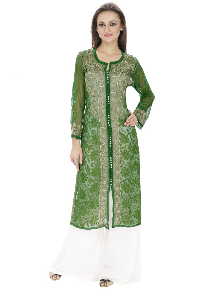 Add a little elegance and color to your wardrobe with this unique kurta