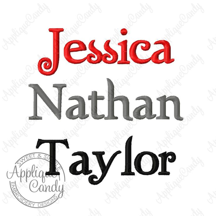 Custom Digitizing Name Machine Embroidery Design Twilight Font (not whole font) by AppCandyEmbroidery on Etsy