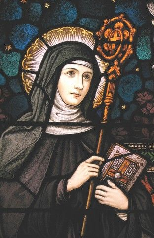 Saint Gertrude the Great, celebrated mystic and theologian, read more about her.