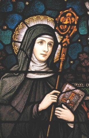 St Gertrude of Nivelles Patron Saint of cat, cat friends, gardens and gardeners.