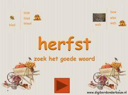 Digibordles: Herfst zoek het goede woord http://www.digibordonderbouw.nl/index.php/themas/herfst/herfstalgemeen/viewcategory/170