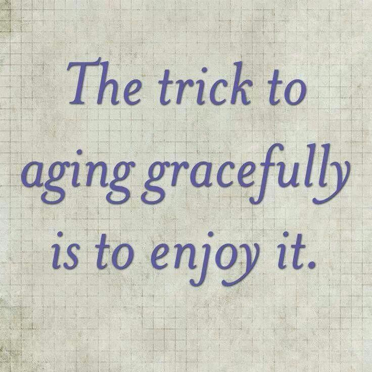 """Words of wisdom — media is constantly promoting """"anti-aging"""" products and shari…"""
