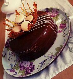karamelovo-čokoládová torta