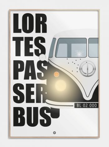 "Citat plakat fra Blinkende Lygter ""lortespasserbus"" www.citatplakat.dk"