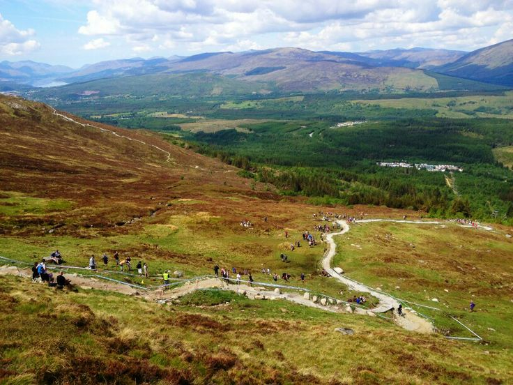 Filming at the Fort William world cup