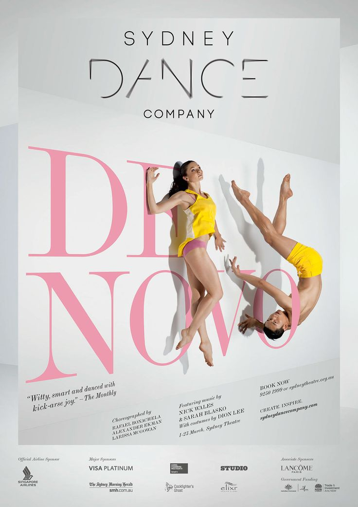 SYDNEY DANCE COMPANY project by Samantha Suyono, Sydney, Australia, pinned by Ton van der Veer