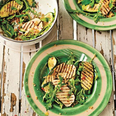 Griddled courgette and halloumi salad with toasted quinoa from Love your Lunchbox by James Ramsden | Recipes | Food | redonline.co.uk