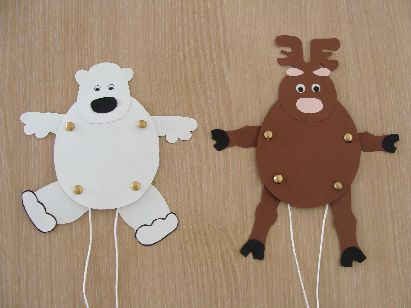 Pantins polaires ... ours ou renne ? (8-12 ans)