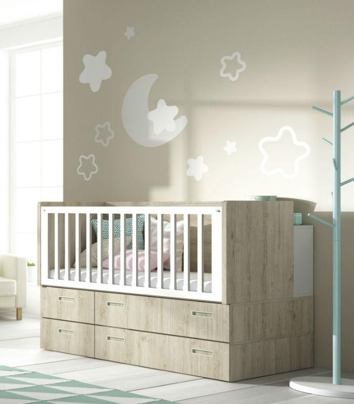12 best cunas y camas infantiles images on pinterest convertible crib cribs and child room - Cunas convertibles precios ...