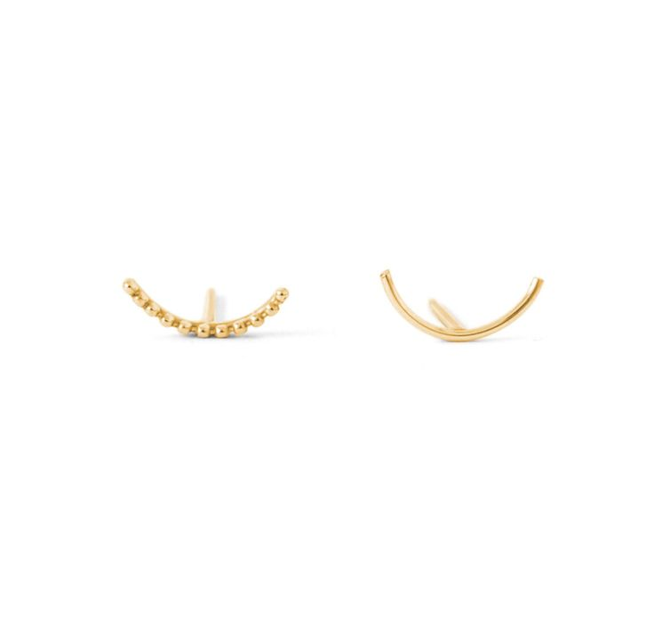 Dot Arc Pair #2 - in gold
