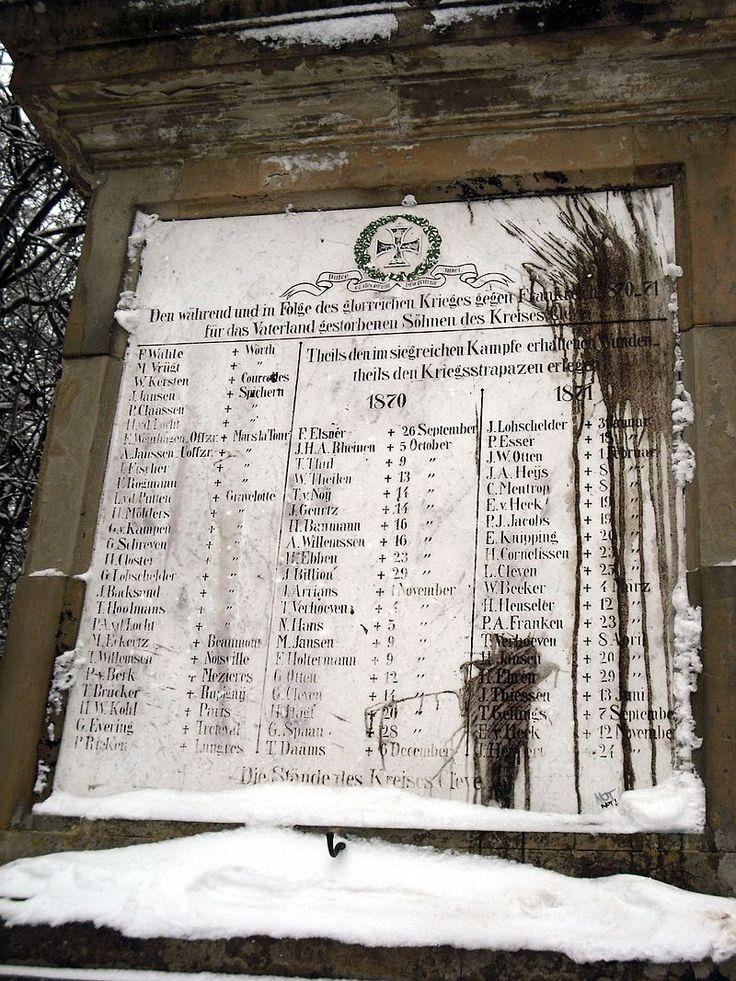 Kleve forstgarten obelisk winter 2 - Guerre franco-allemande de 1870 — Wikipédia