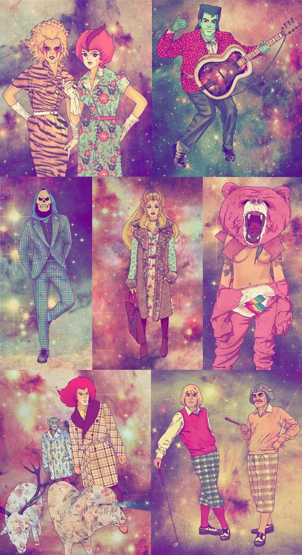 Cartoons Fab Ciarolo Icons as Hipsters