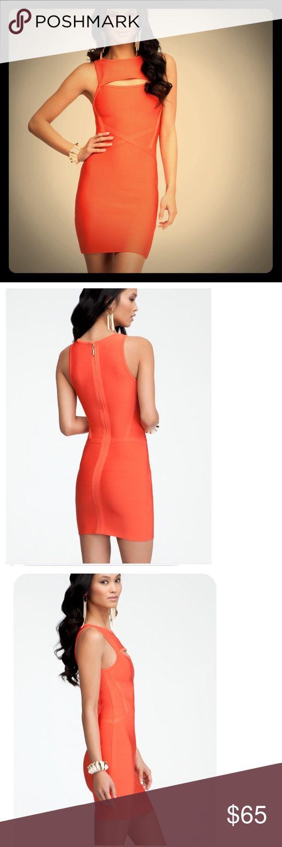 Bebe Bandage Orange Mini Dress Bebe Bandage Orange Mini Dress. Brand new. bebe Dresses Mini