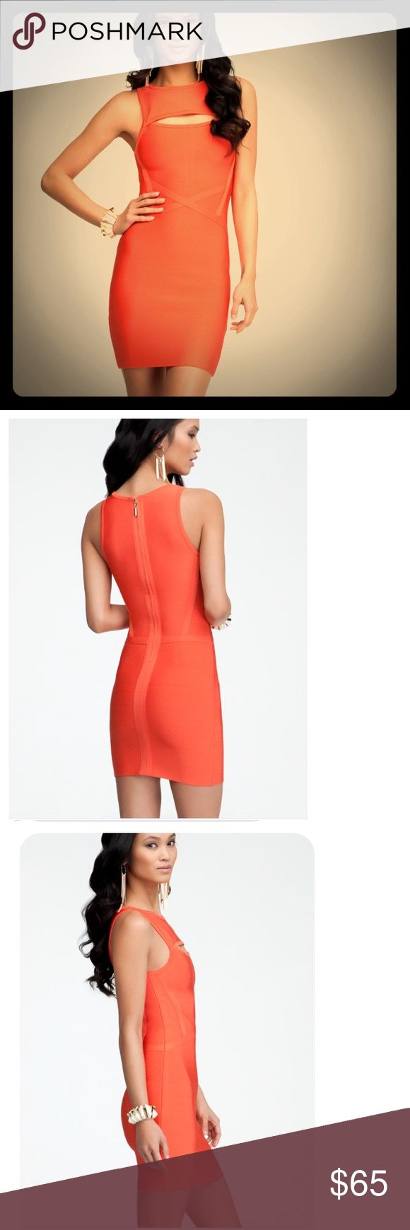 Bebe Bandage Orange Mini Dress Bebe Bandage Orange Mini Dress. Brand new. bebe Dresses Mini