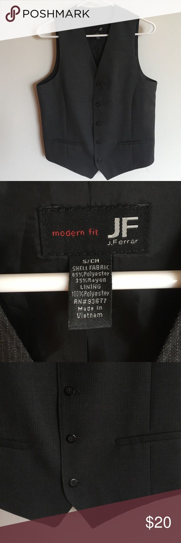 Pict j ferrar modern fit 1 - Mens Formal Vest Mens Gray Pinstriped Vest For Sale Worn Once And In Great Condition
