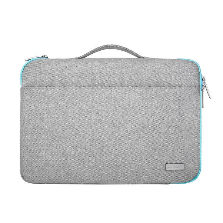 "Flexible Handle Canvas Fabric Men Women Briefcase Messenger Bag 15"" 15.6"" for Macbook HP Dell Lenovo Acer Notebook - TMACHE"