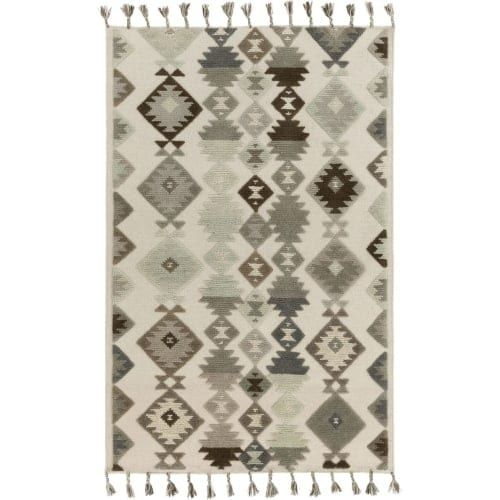 Surya TLL3003-810 Tallo 8' x 10' Rectangle Wool Hand Woven Transitional Area Rug - Cream (Ivory)
