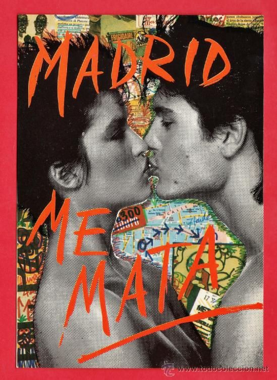 postal - madrid me mata / too much for my brain - nº 10 - fot. oscar marine - nueva - año 1986 (