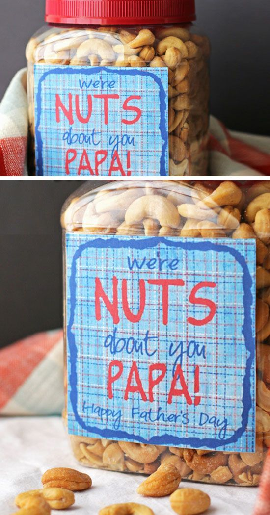 Nuts About Papa | Click Pic for 20 Easy DIY Christmas Gifts for Grandfather | Handmade Gift Ideas for Grandparents from Kids