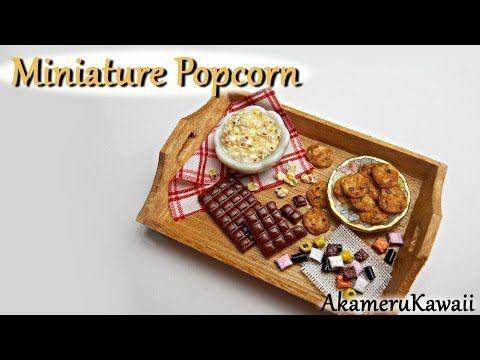 ▶ Miniature Popcorn - Polymer clay tutorial - YouTube