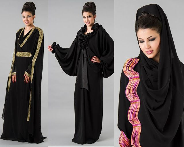 This is the image gallery of 5 Different Abaya Designs for Girls 2014. You are currently viewing 2014 Latest Abayas Designs. All other images from this gallery are given below. Give your comments in comments section about this. Also share stylehoster.com with your friends. #abayadress