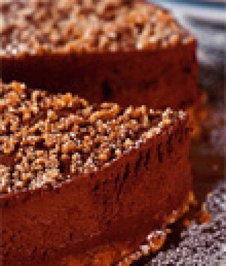 Sametový nepečený čokoládový dort