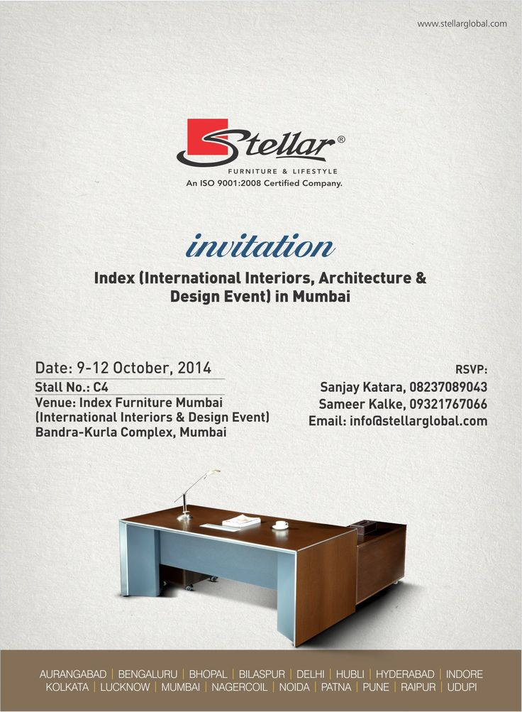 Do Visit Us On Stall No24 In Index International Interior Design Event From