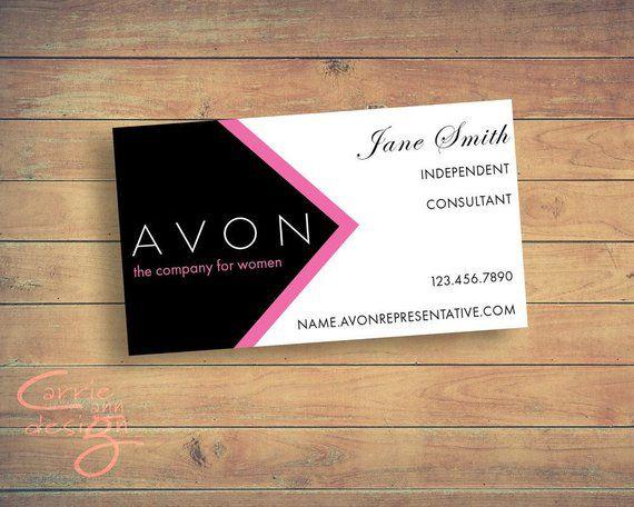 Avon Sales Representative Business Card Digital Design Etsy In 2021 Printable Business Cards Avon Business Avon Sales