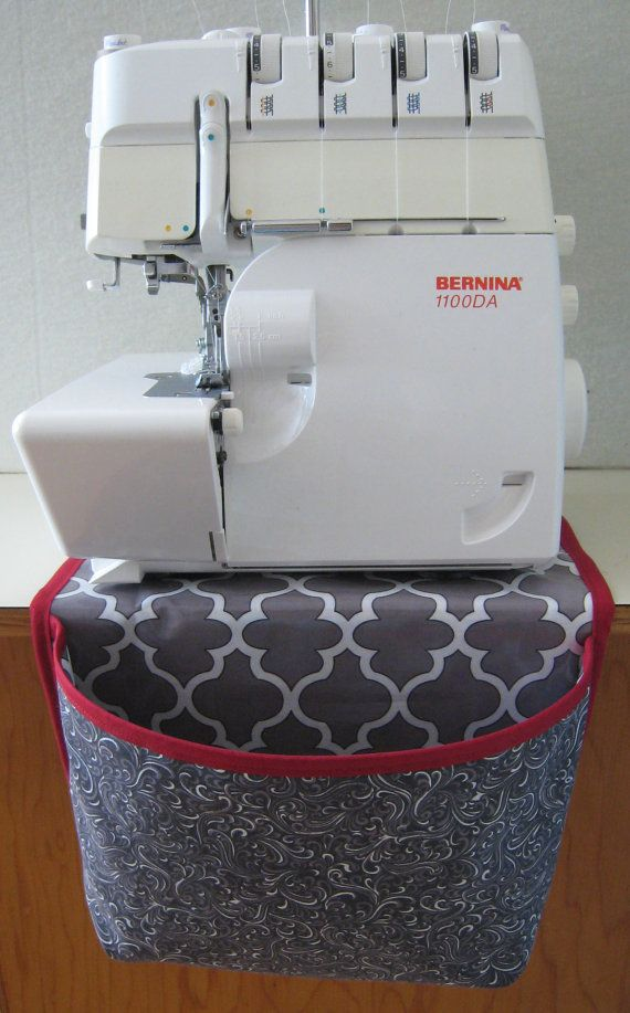 Serger Trim Catcher Pocket approx 11in and back 17in Laminated inside so scraps/threads slide out when packing up.
