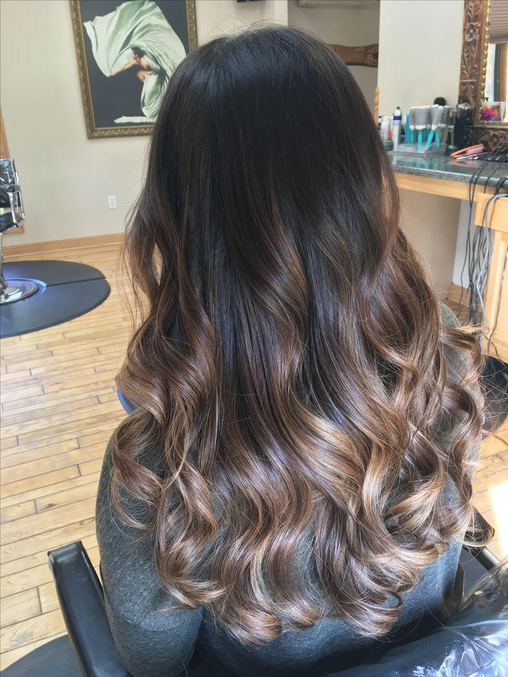 Dark brown balayage | Fall Hair in 2019 | Balayage, Brown ...