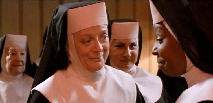 "Maggie Smith and Whoppi Goldeberg, ""Sister Act"", 1992 ..."